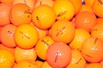 100 Mint Grade Orange Used Golf Balls