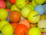 100 Practice Grade Colored Used Golf Balls