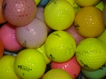 50 Mid-Grade Colored Used Golf Balls