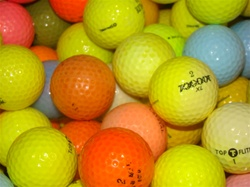 50 Practice Grade Colored Used Golf Balls